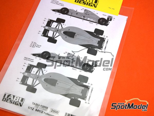 Image 3: Ferrari 641/2 F1-90 - Brazilian Grand Prix, Spanish Grand Prix, French Grand Prix, British Grand Prix, Mexican Grand Prix, Portuguese Grand Prix 1990 | Marking / livery in 1/12 scale manufactured by Tabu Design (ref. TABU12056D)