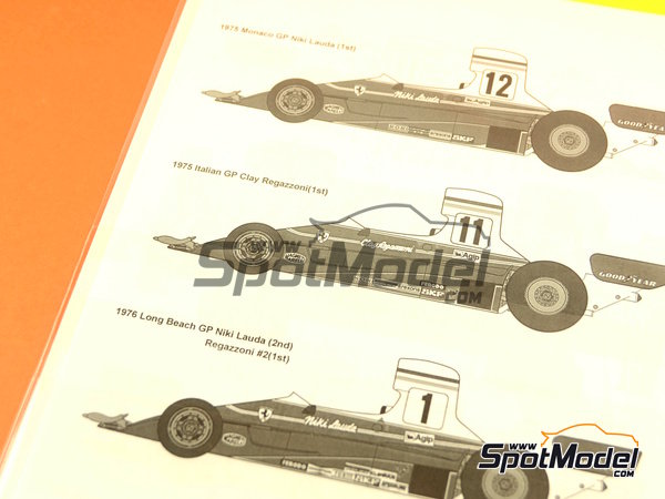 Image 2: Ferrari 312T - FIA Formula 1 World Championship 1975 and 1976 | Marking / livery in 1/12 scale manufactured by Tabu Design (ref. TABU12077)