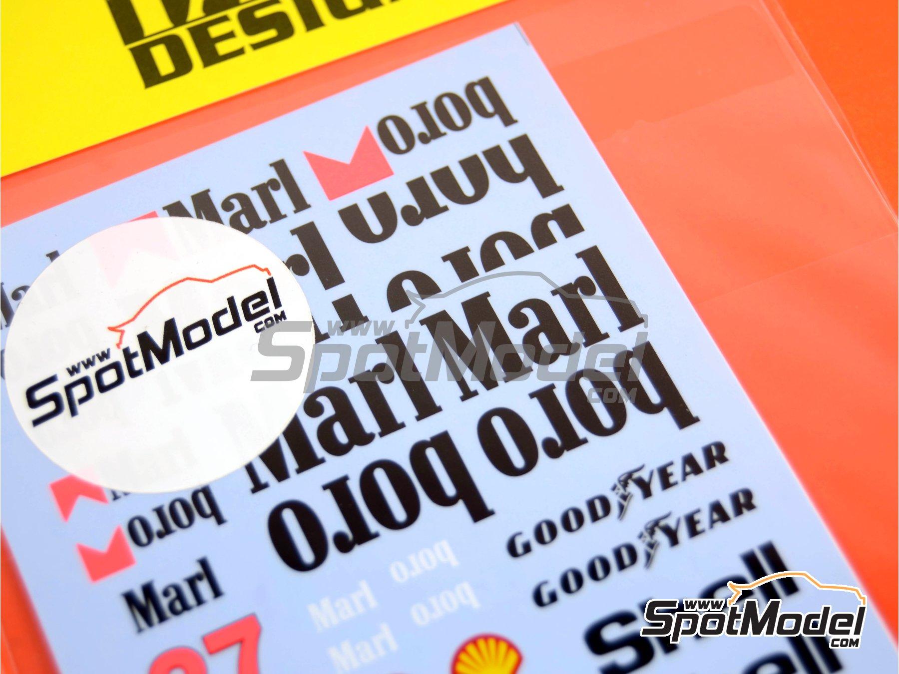 Image 1: McLaren Honda MP4/5B Marlboro - Campeonato del Mundo de Formula1 1990 | Decoración en escala1/20 fabricado por Tabu Design (ref.TABU20002D)