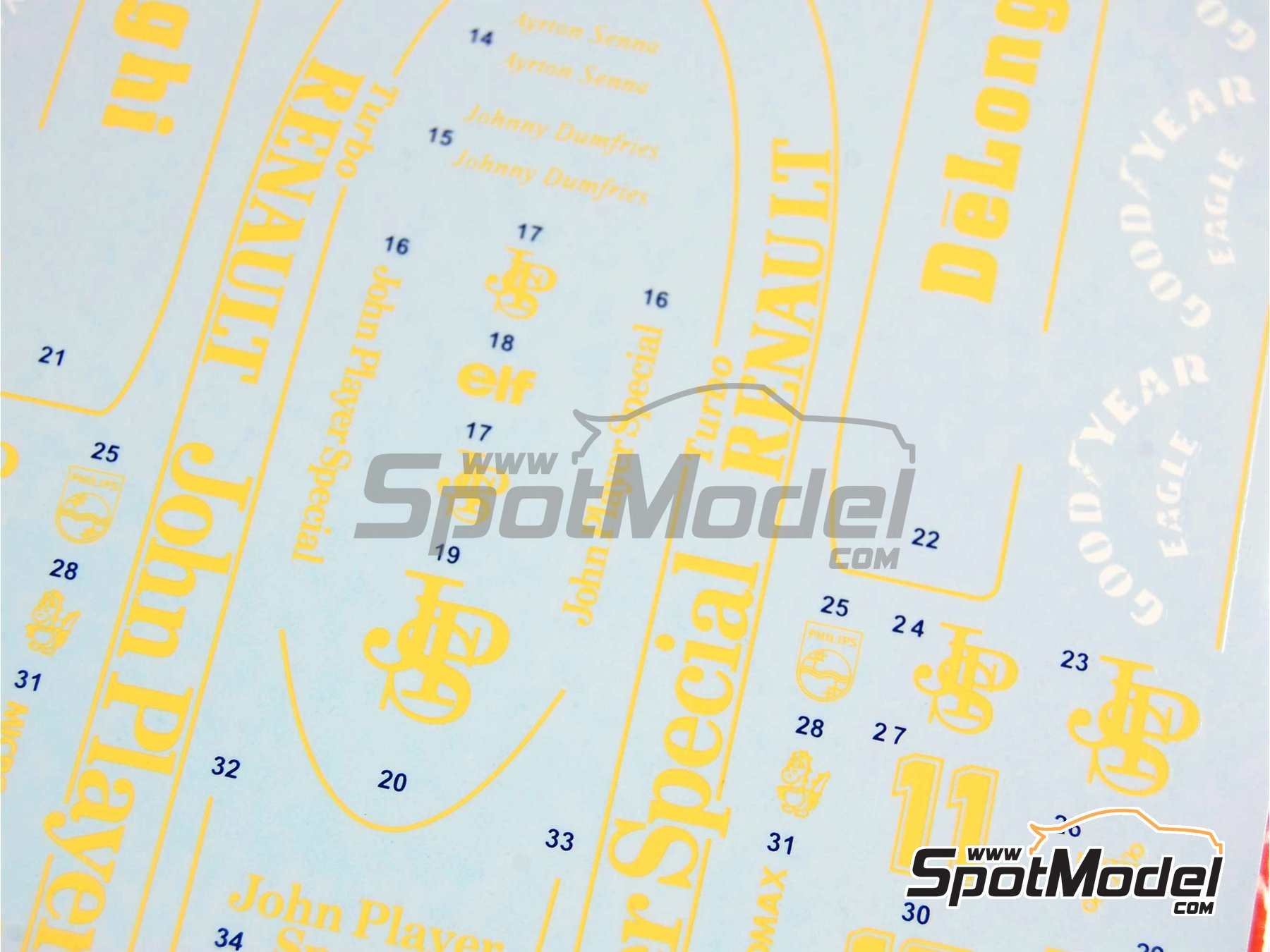 Image 4: Lotus Renault 98T John Player Special - FIA Formula 1 World Championship 1986 | Marking / livery in 1/20 scale manufactured by Tabu Design (ref. TABU20030)