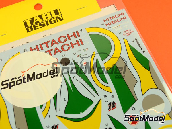 Image 2: Lotus Mugen-Honda 107C Hitachi - FIA Formula 1 World Championship 1994 | Marking / livery in 1/20 scale manufactured by Tabu Design (ref.TABU20049D)