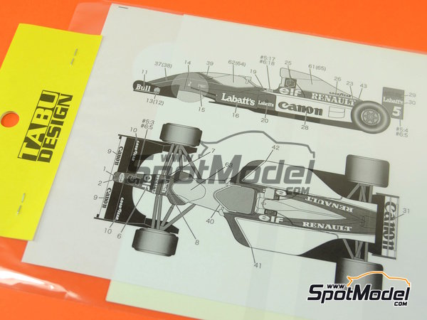 Image 1: Williams Renault FW14B Canon Camel - FIA Formula 1 World Championship 1992 | Marking / livery in 1/20 scale manufactured by Tabu Design (ref.TABU20078)