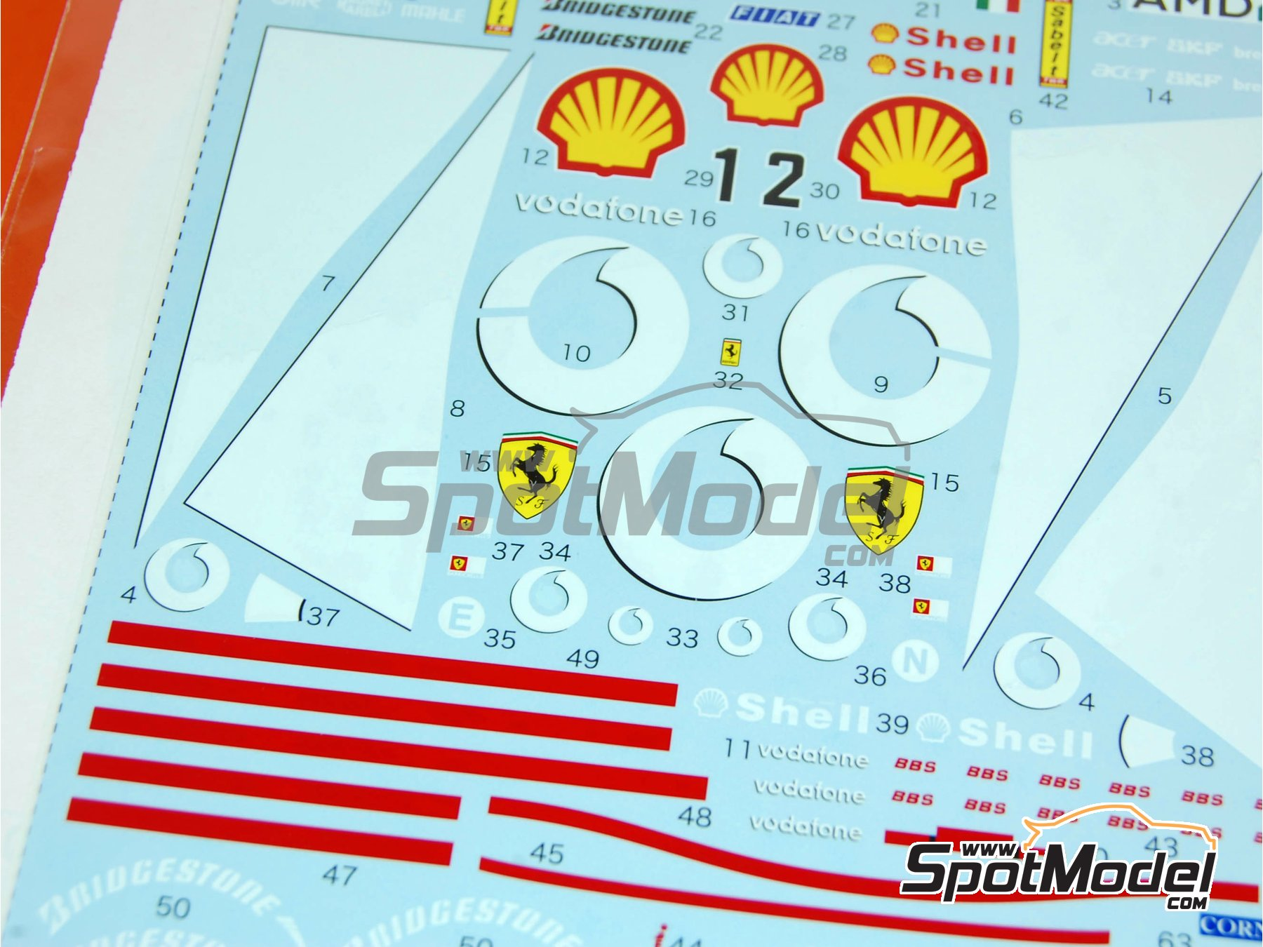 Image 3: Ferrari F2003-GA Vodafone Shell - FIA Formula 1 World Championship 2003 | Marking / livery in 1/20 scale manufactured by Tabu Design (ref. TABU20110)