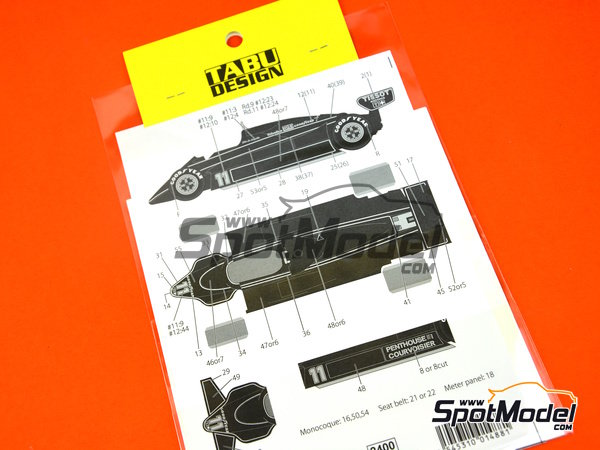 Image 1: Lotus Ford Type 91 -  1982 | Decoración en escala 1/20 fabricado por Tabu Design (ref. TABU20148)