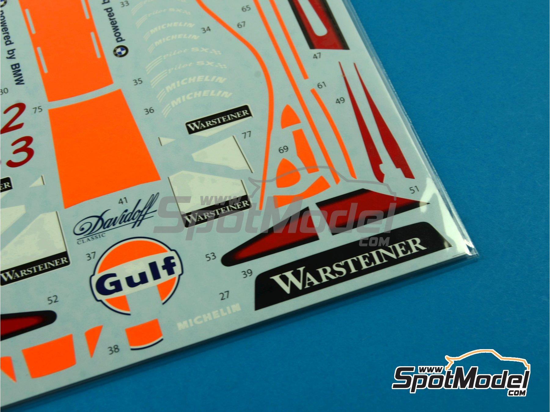 Image 2: McLaren F1 GTR Long Tail Gulf - Suzuka 1997 | Decoración en escala1/24 fabricado por Tabu Design (ref.TABU24061)