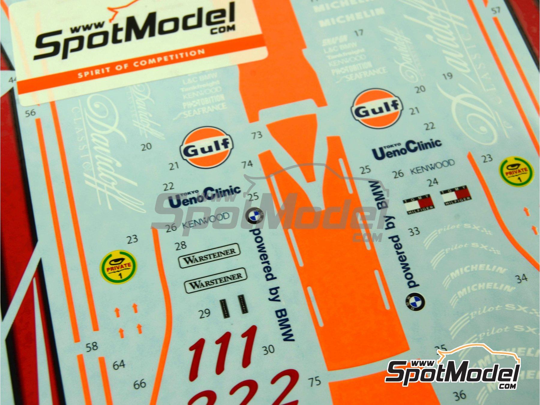 Image 5: McLaren F1 GTR Long Tail Gulf - Suzuka 1997 | Decoración en escala1/24 fabricado por Tabu Design (ref.TABU24061)