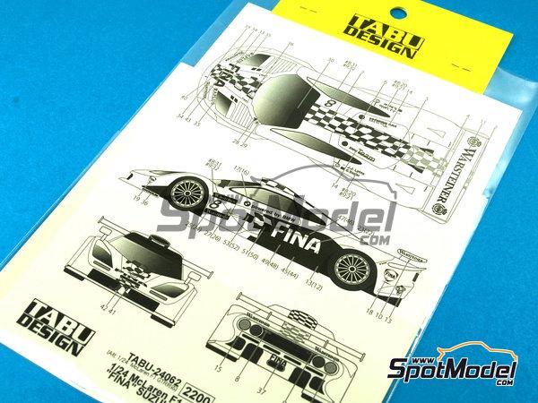 Image 6: McLaren F1 GTR Long Tail Fina - Suzuka 1997 | Decoración en escala1/24 fabricado por Tabu Design (ref.TABU24062)