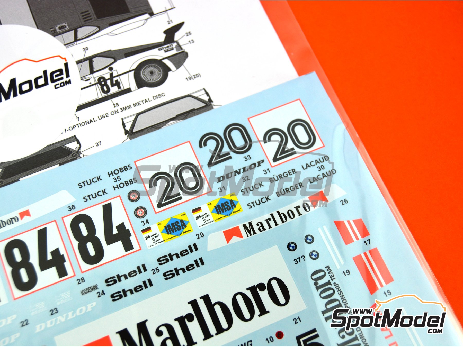 Image 1: BMW M1 Group A Marlboro - Procar Championship 1979  and 1980 | Marking / livery in 1/24 scale manufactured by Tabu Design (ref.TABU24064)