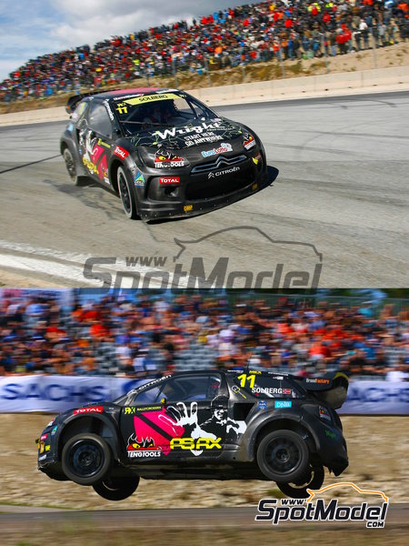Citroen DS3 WRC Tengtools - Rallycross 2013 | Decals in 1/24 scale manufactured by Tabu Design (ref.TABU24065) image