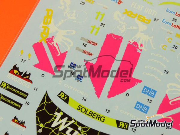 Image 3: Citroen DS3 WRC Tengtools - Rallycross 2013 | Decals in 1/24 scale manufactured by Tabu Design (ref.TABU24065)