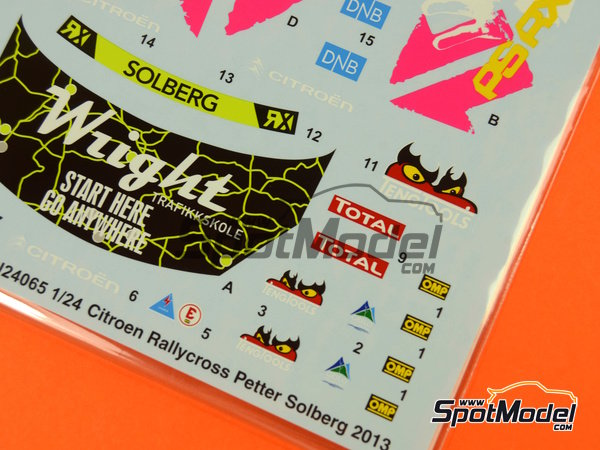 Image 4: Citroen DS3 WRC Tengtools - Rallycross 2013 | Decals in 1/24 scale manufactured by Tabu Design (ref.TABU24065)