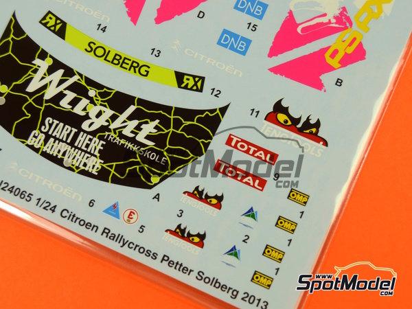 Image 4: Citroen DS3 WRC Tengtools - Rallycross 2013 | Calcas de agua en escala1/24 fabricado por Tabu Design (ref.TABU24065)