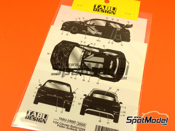 Image 5: Citroen DS3 WRC Tengtools - Rallycross 2013 | Decals in 1/24 scale manufactured by Tabu Design (ref.TABU24065)