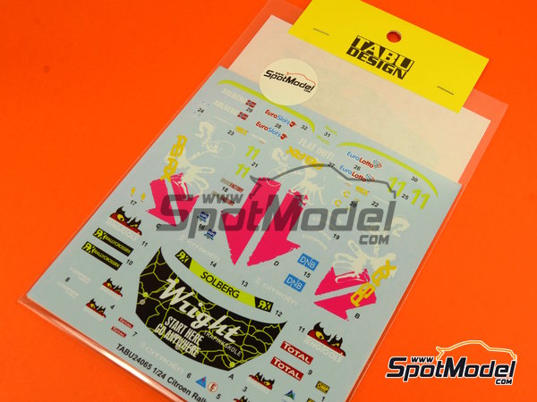 Image 6: Citroen DS3 WRC Tengtools - Rallycross 2013 | Decals in 1/24 scale manufactured by Tabu Design (ref.TABU24065)