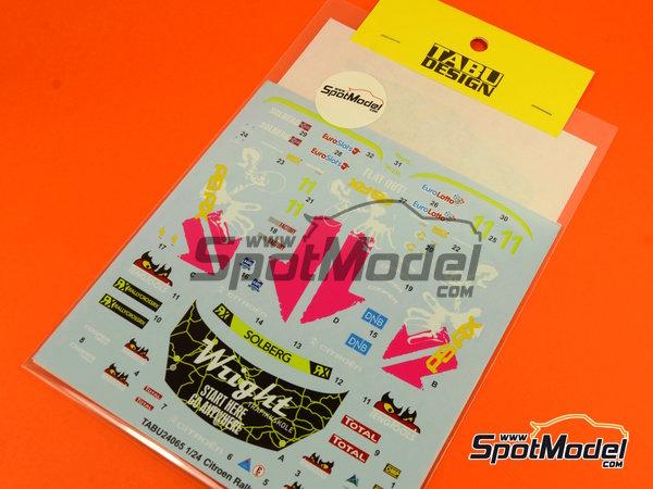 Image 6: Citroen DS3 WRC Tengtools - Rallycross 2013 | Calcas de agua en escala1/24 fabricado por Tabu Design (ref.TABU24065)