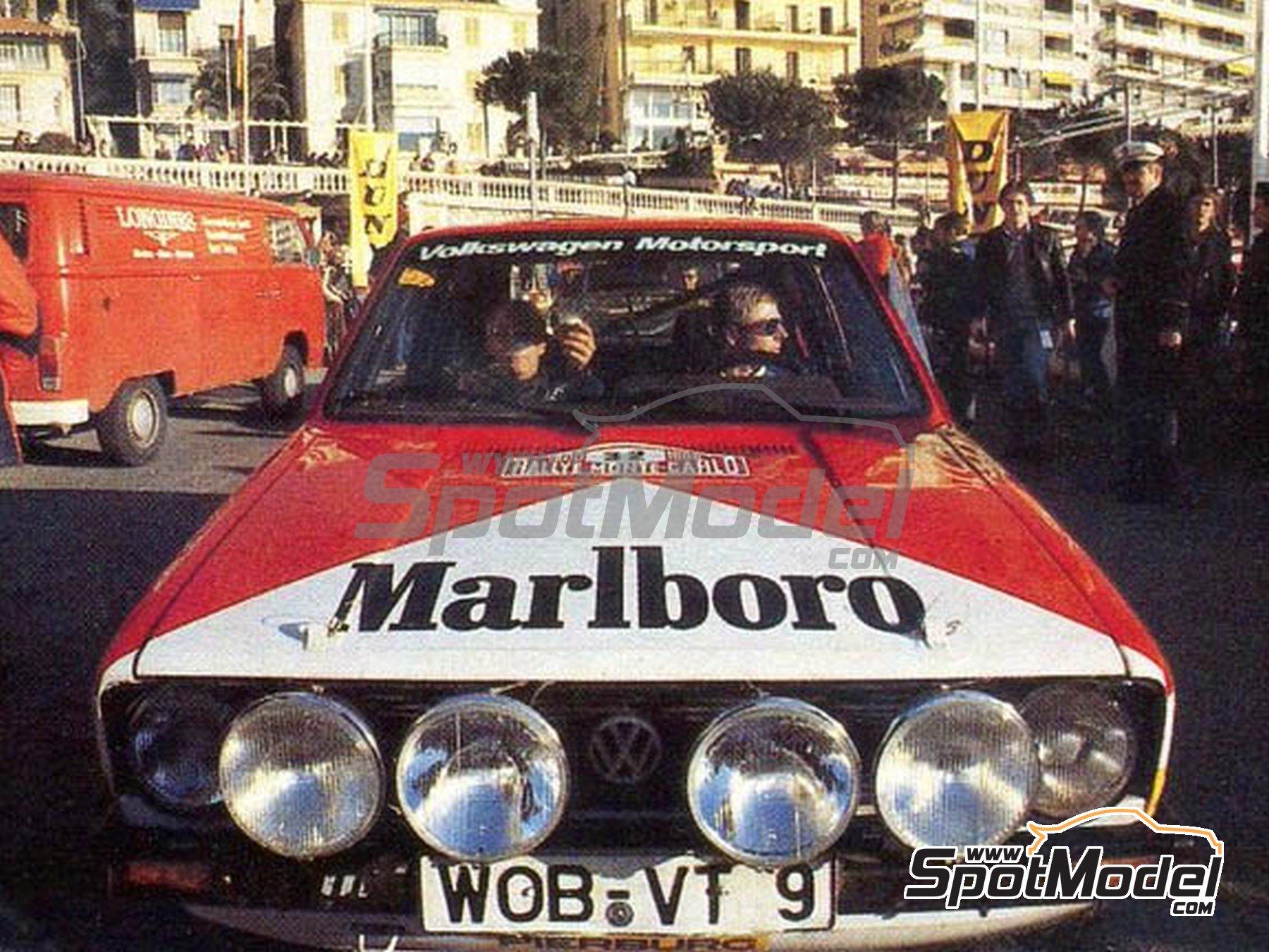 Image 1: Volkswagen Golf I GTI Marlboro - Rally de Montecarlo 1980   Decoración en escala1/24 fabricado por Tabu Design (ref.TABU24076)