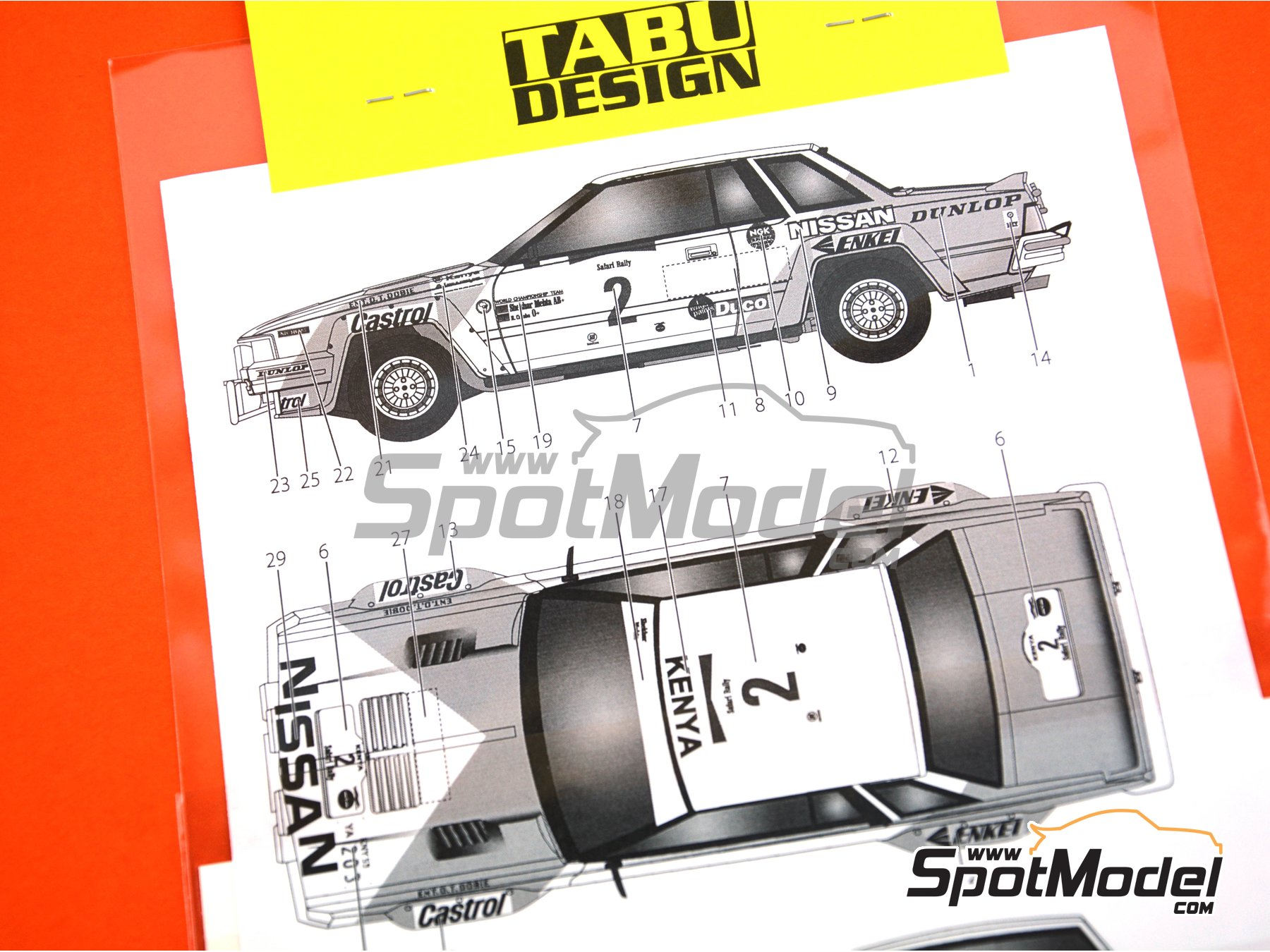 Image 3: Nissan 240RS - Safari Rally 1984 | Marking / livery in 1/24 scale manufactured by Tabu Design (ref. TABU24078)