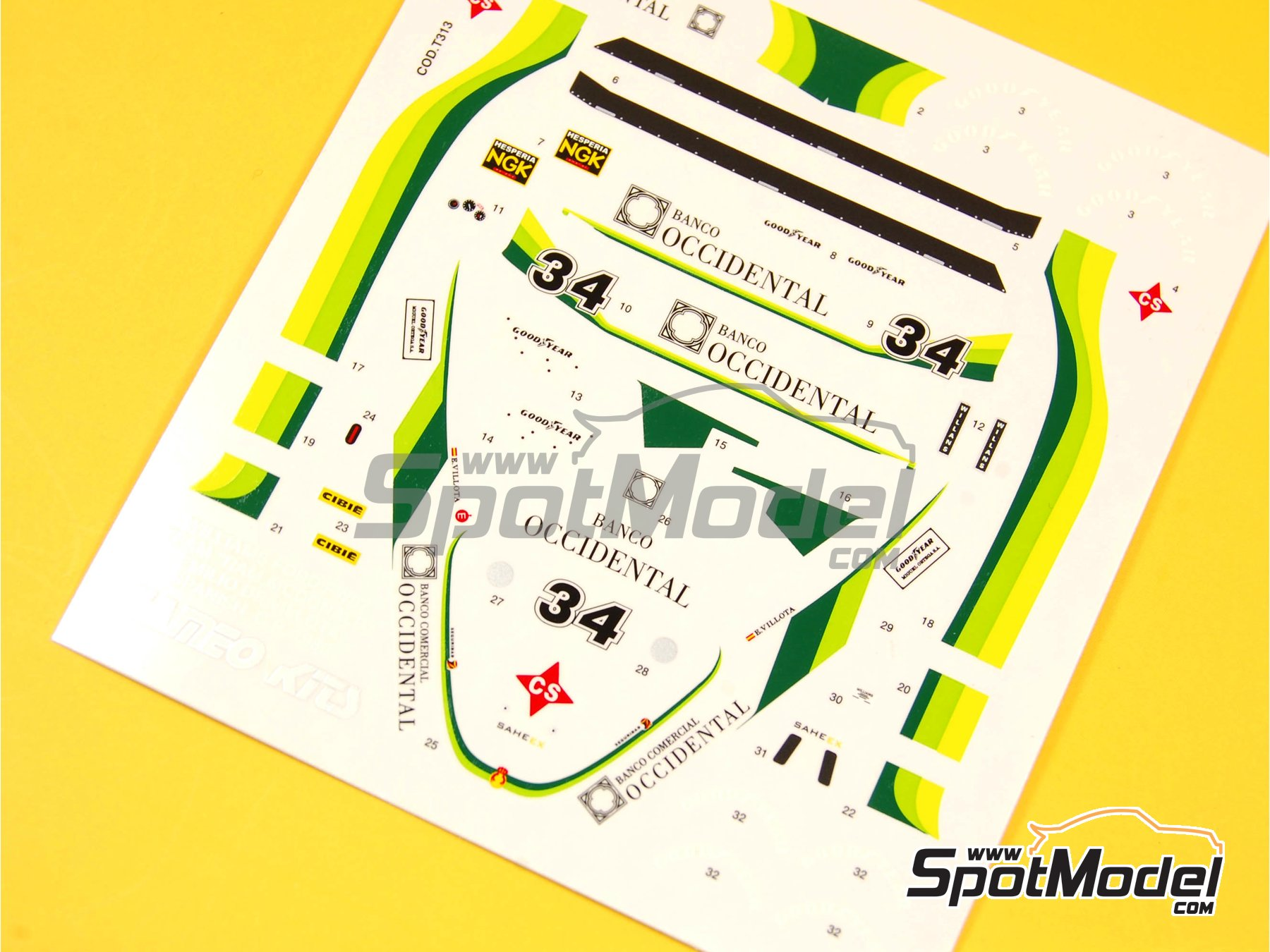 Image 3: Williams Ford FW07 Ram Racing - Banco Occidental - Spanish Grand Prix 1980 | Marking / livery in 1/43 scale manufactured by Tameo Kits (ref. DK326)