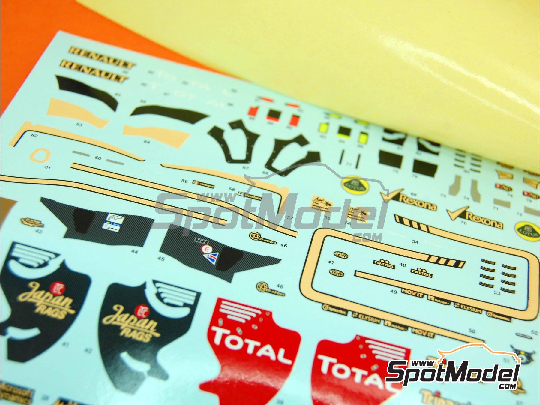 Image 1: Lotus Renault E20 Clear Total - Gran Premio de Fórmula 1 de Abu Dhabi 2012 | Decoración en escala1/43 fabricado por Tameo Kits (ref.DK412)