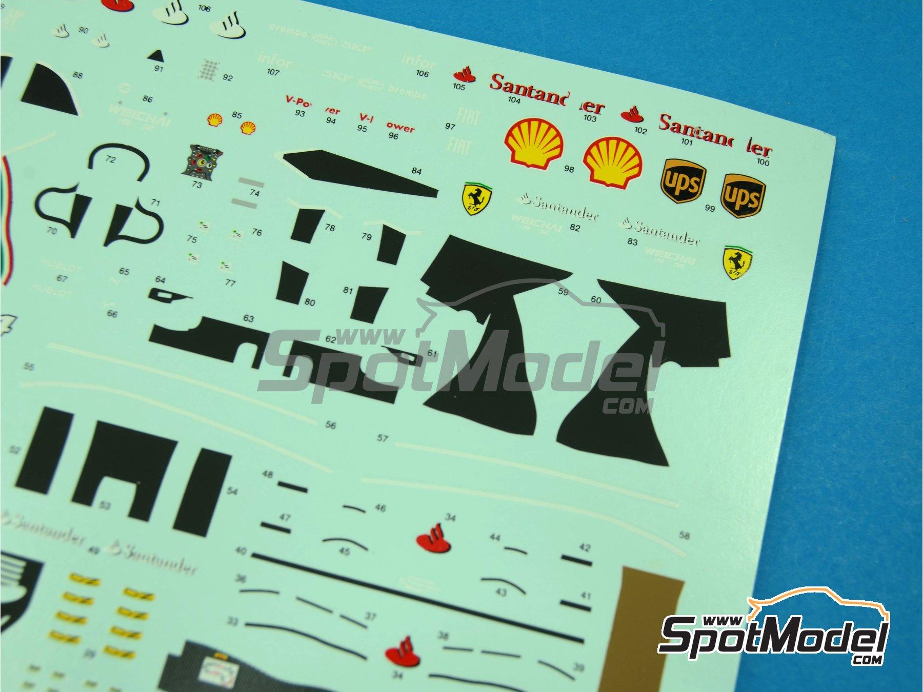 Image 5: Ferrari F14 T Banco Santander - Australian Formula 1 Grand Prix 2014   Marking / livery in 1/43 scale manufactured by Tameo Kits (ref.DK421)