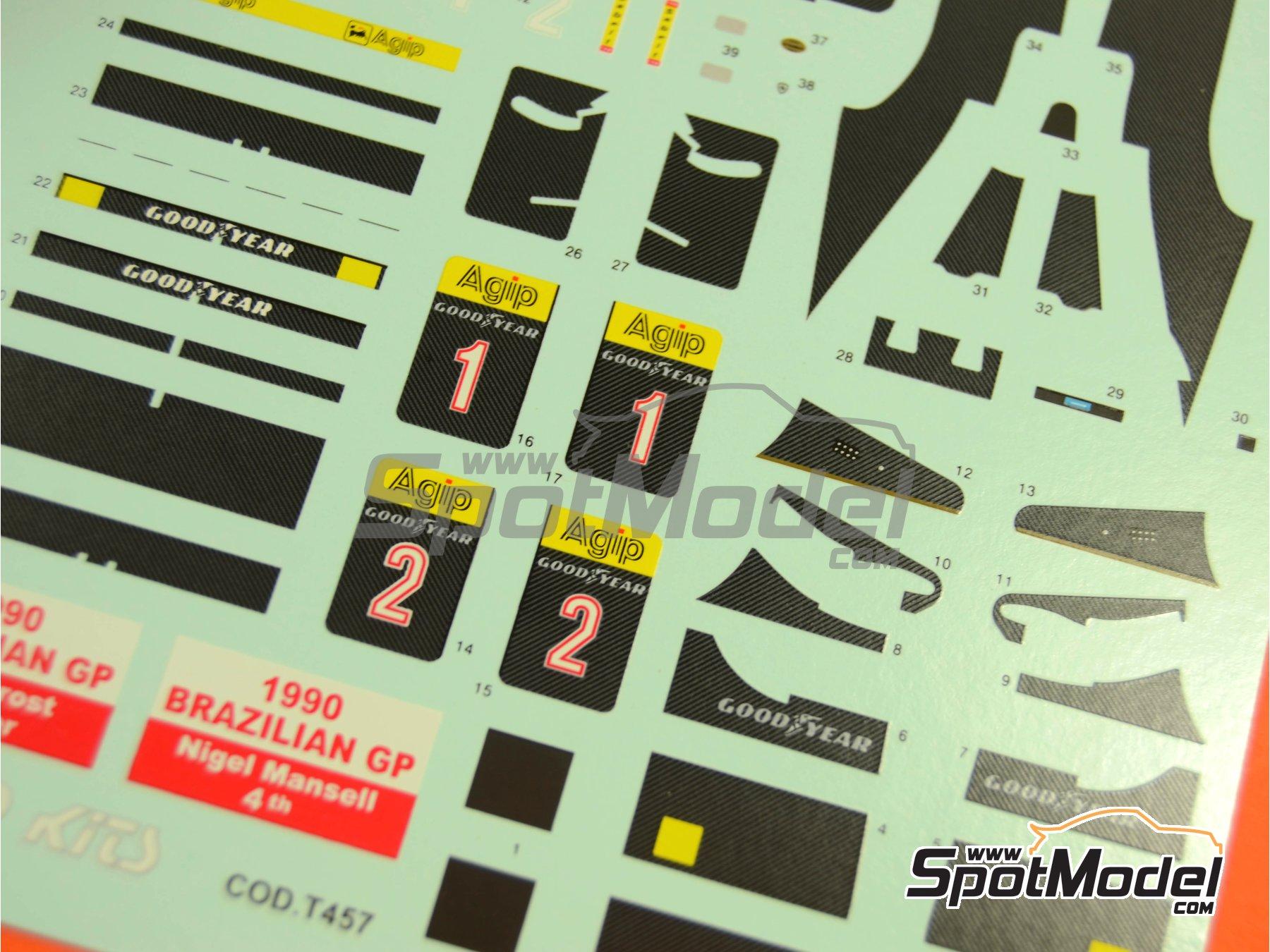 Image 2: Ferrari F1-90 Marlboro - Gran Premio de Fórmula 1 de Brasil 1990 | Decoración en escala1/43 fabricado por Tameo Kits (ref.DK425)