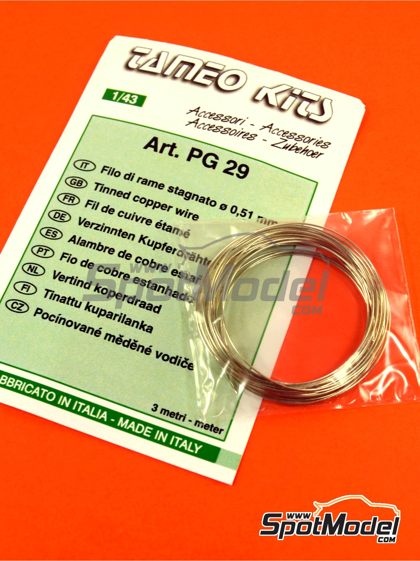 Tinned cooper wire 0,51mm diameter | Material manufactured by Tameo Kits (ref.PG29) image