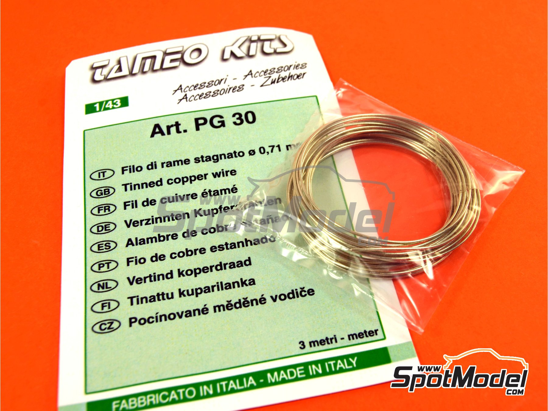 Image 2: Tinned cooper wire 0,71 mm diameter | Material manufactured by Tameo Kits (ref.PG30)
