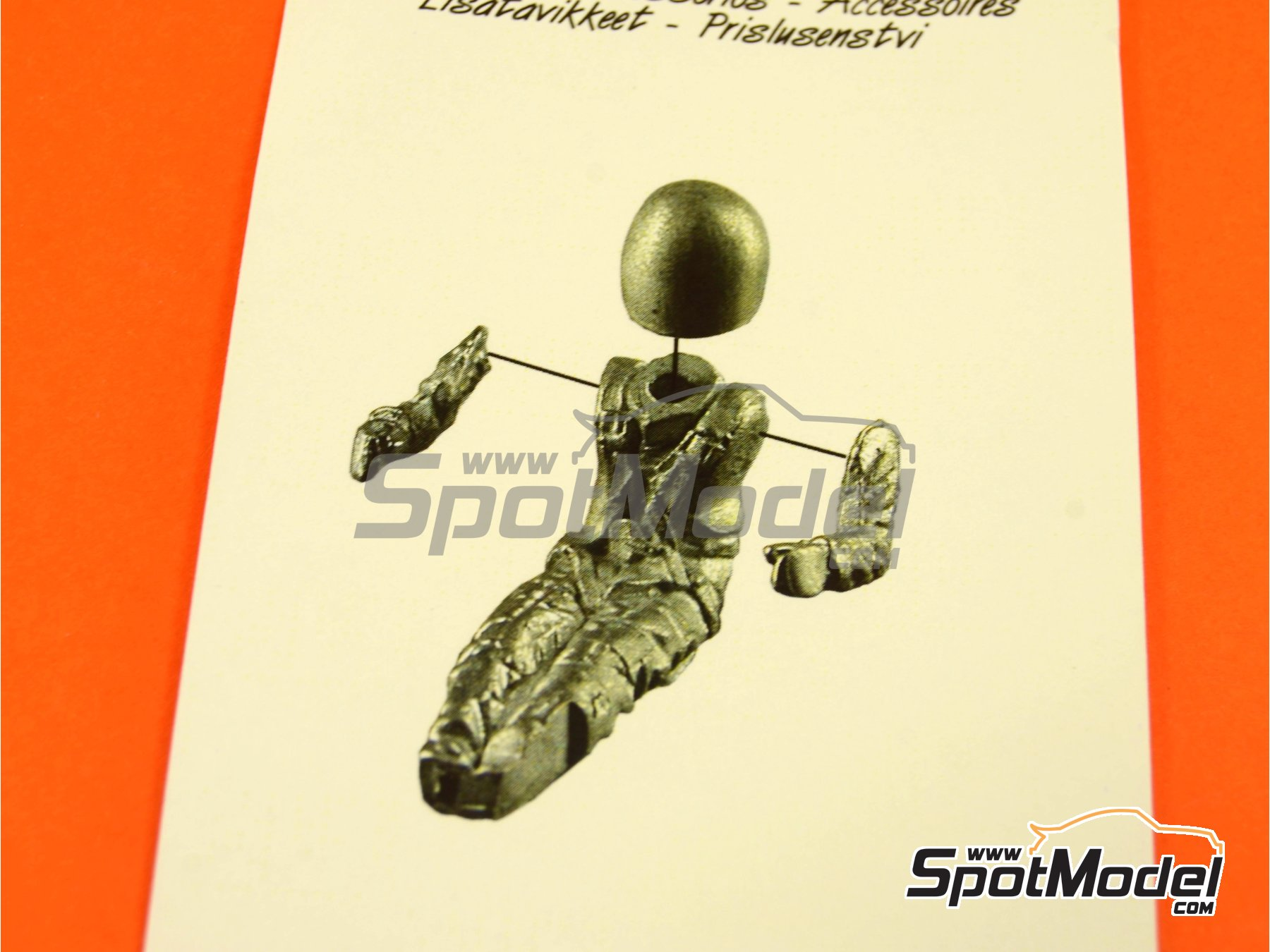 Image 1: F1 sitting driver | Figure in 1/43 scale manufactured by Tameo Kits (ref.PG33)