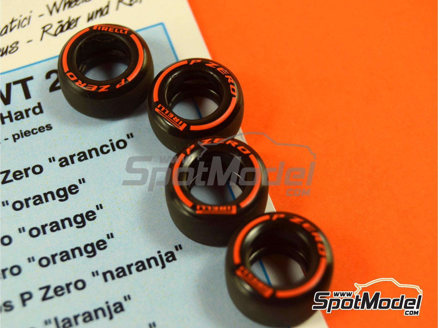 Image 3: Pirelli P Zero Orange | Tyre set in 1/43 scale manufactured by Tameo Kits (ref.PWT26)