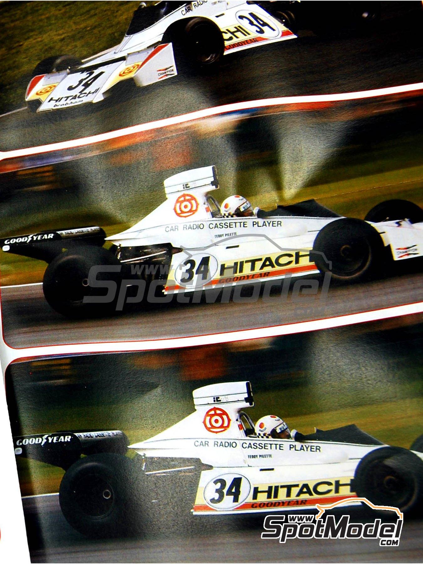 Brabham Ford BT42/3 Hitachi - Gran Premio de Fórmula 1 de Belgica 1974   Maqueta de coche en escala1/43 fabricado por Tameo Kits (ref.SLK092) image