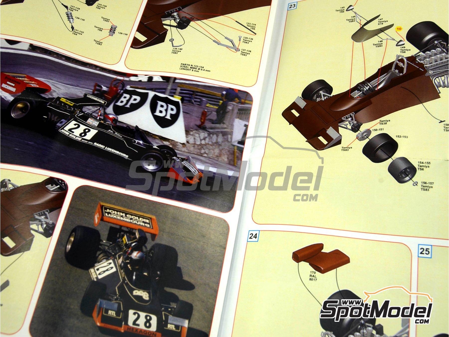 Image 3: Brabham Ford BT42 John Goldie - Monaco Formula 1 Grand Prix 1974 | Model car kit in 1/43 scale manufactured by Tameo Kits (ref.SLK095)