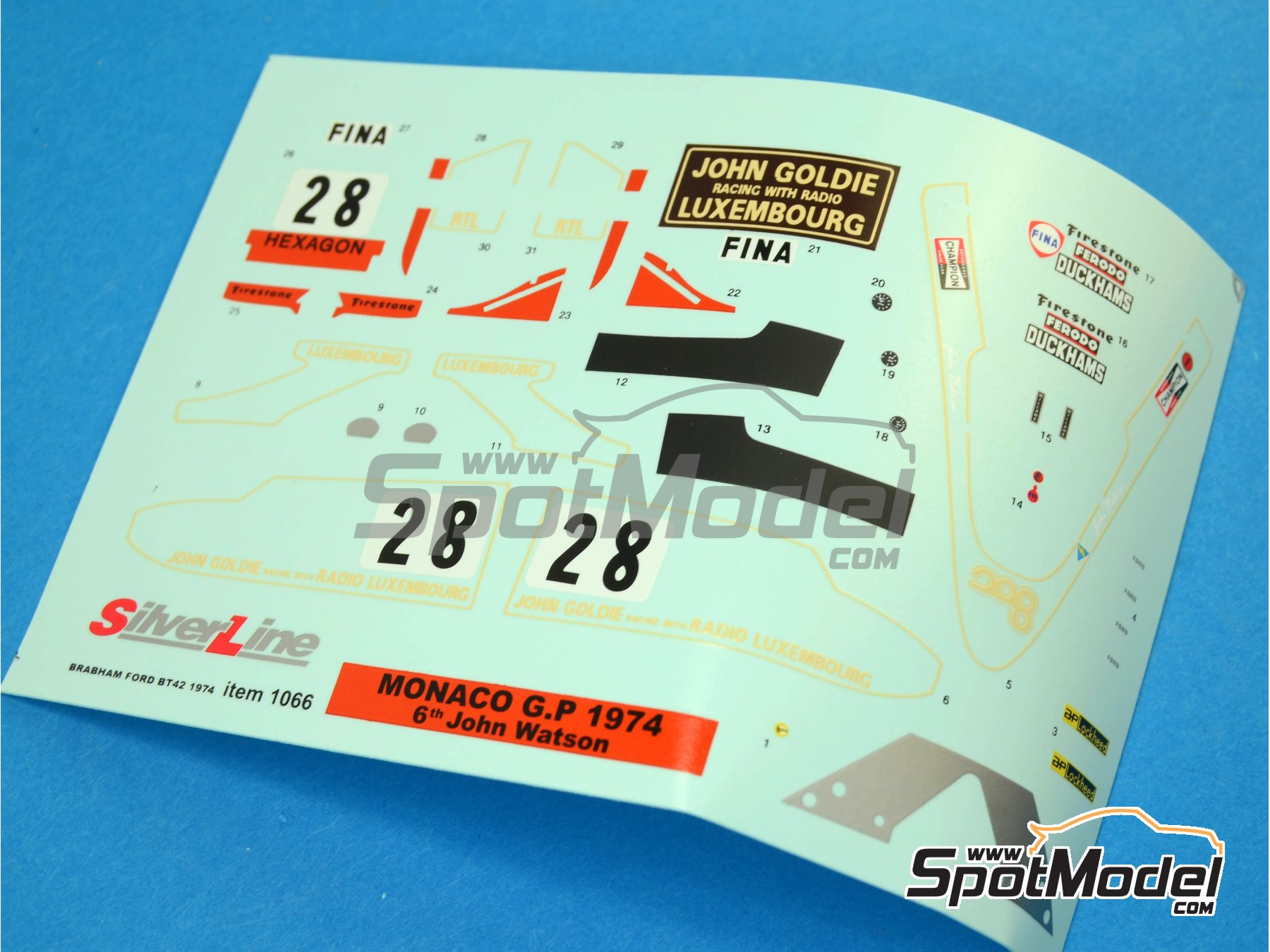 Image 4: Brabham Ford BT42 John Goldie - Monaco Formula 1 Grand Prix 1974 | Model car kit in 1/43 scale manufactured by Tameo Kits (ref.SLK095)