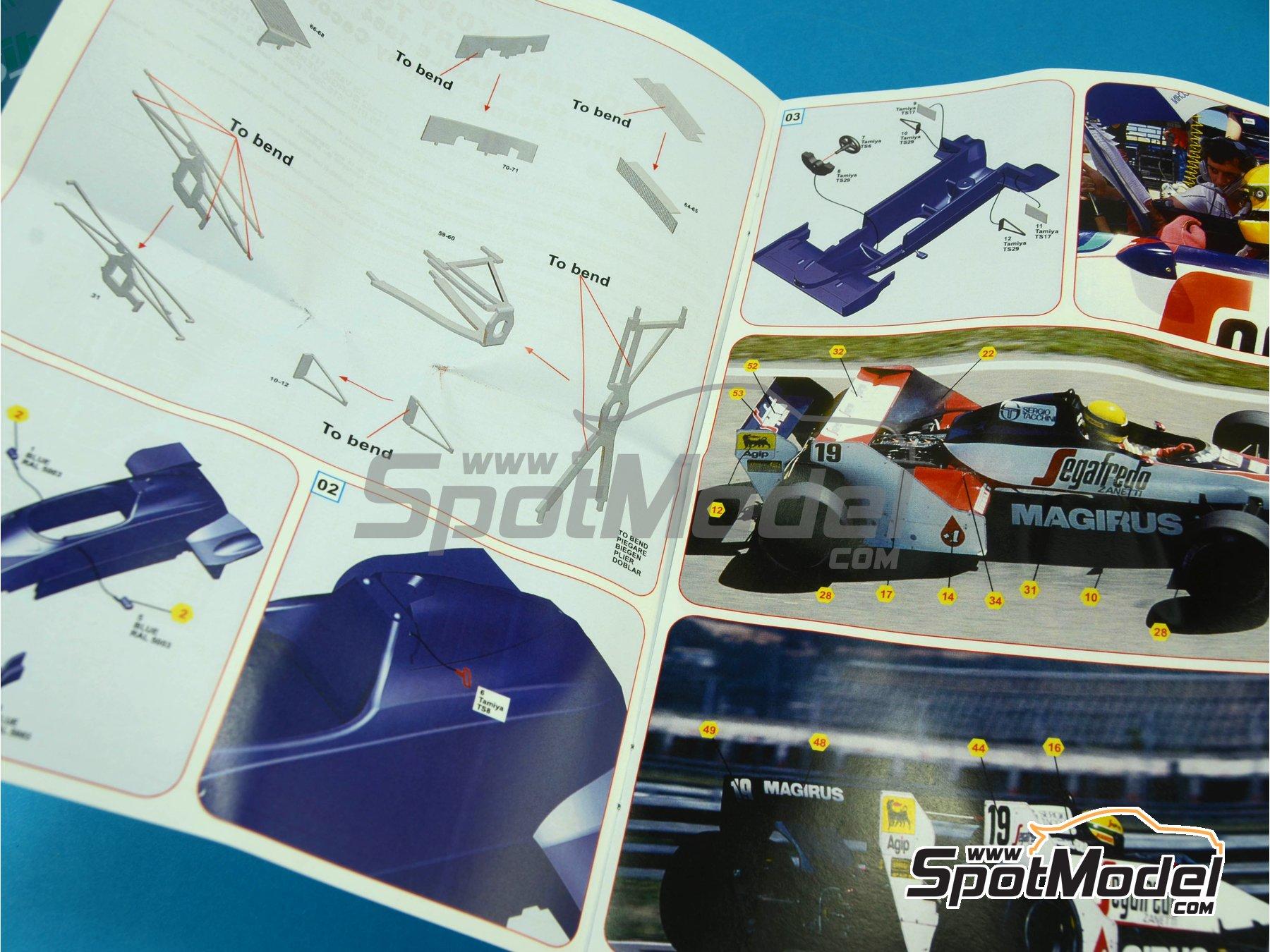 Image 2: Toleman Hart TG183B Magirus - Brazilian Formula 1 Grand Prix 1984 | Model car kit in 1/43 scale manufactured by Tameo Kits (ref.SLK096)