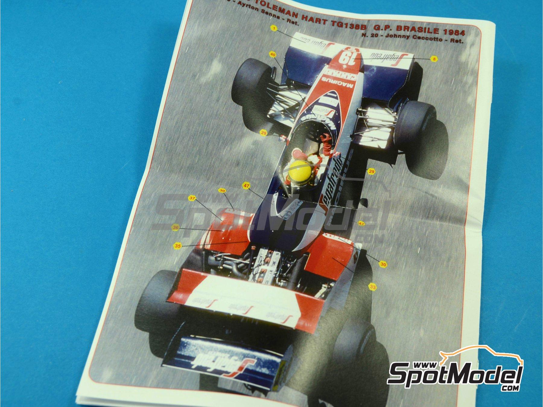 Image 4: Toleman Hart TG183B Magirus - Brazilian Formula 1 Grand Prix 1984 | Model car kit in 1/43 scale manufactured by Tameo Kits (ref.SLK096)