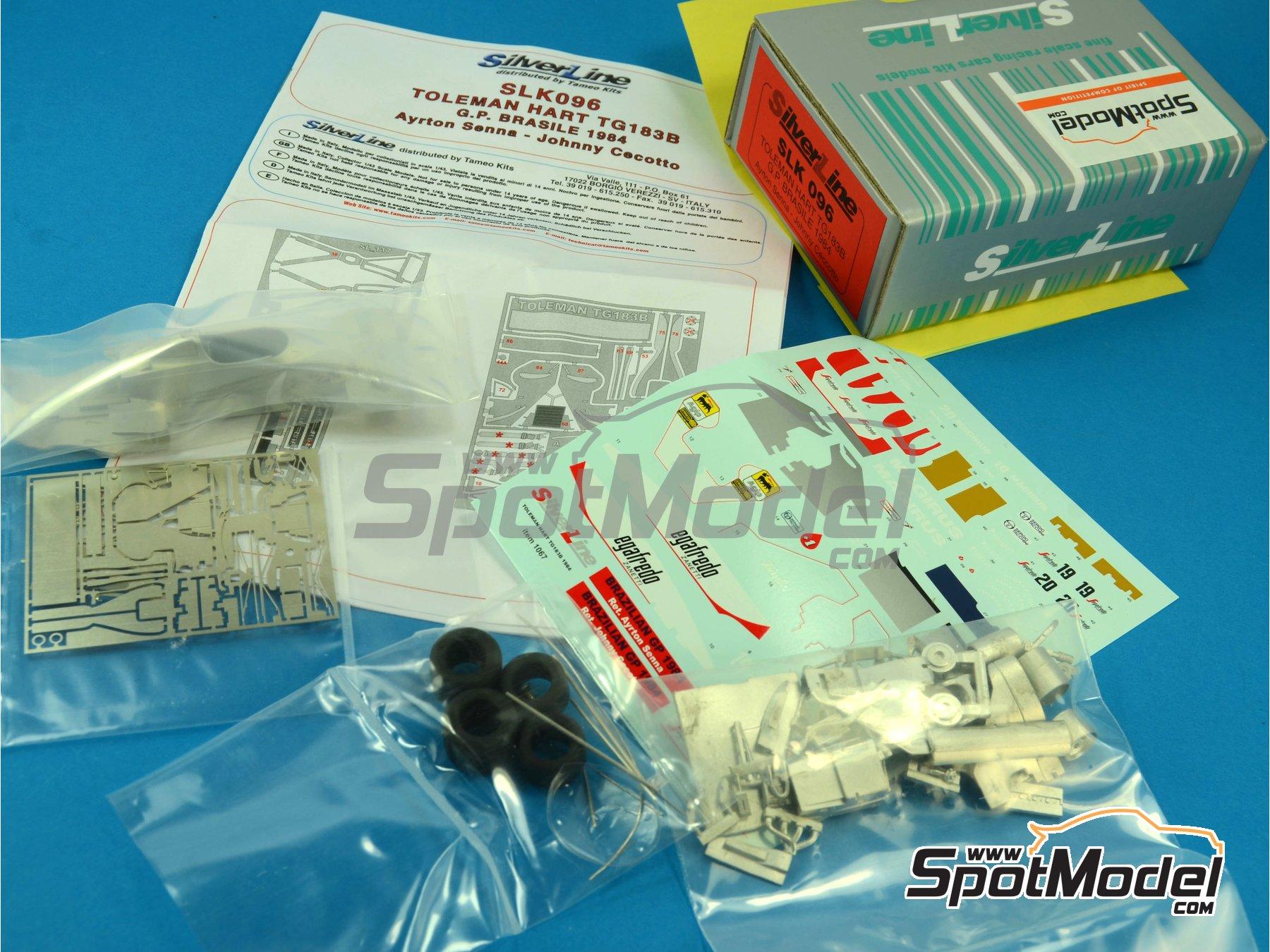 Image 11: Toleman Hart TG183B Magirus - Brazilian Formula 1 Grand Prix 1984 | Model car kit in 1/43 scale manufactured by Tameo Kits (ref.SLK096)