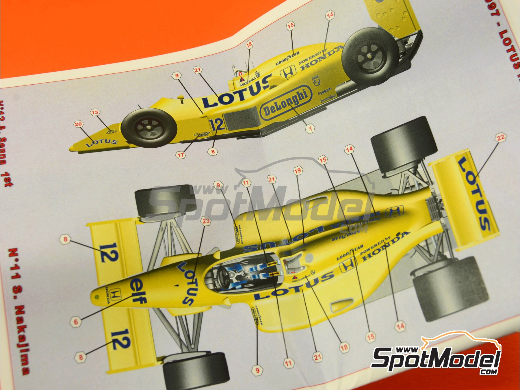 Image 1: Lotus Honda 99T Camel - USA Formula 1 Grand Prix 1987 | Model car kit in 1/43 scale manufactured by Tameo Kits (ref.SLK097)