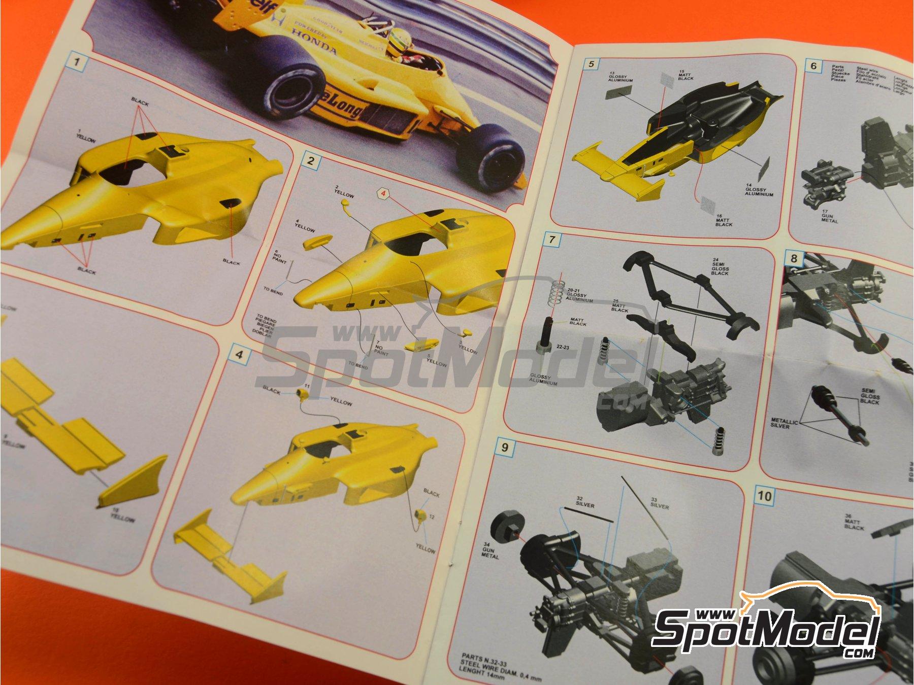 Image 10: Lotus Honda 99T Camel - USA Formula 1 Grand Prix 1987 | Model car kit in 1/43 scale manufactured by Tameo Kits (ref.SLK097)