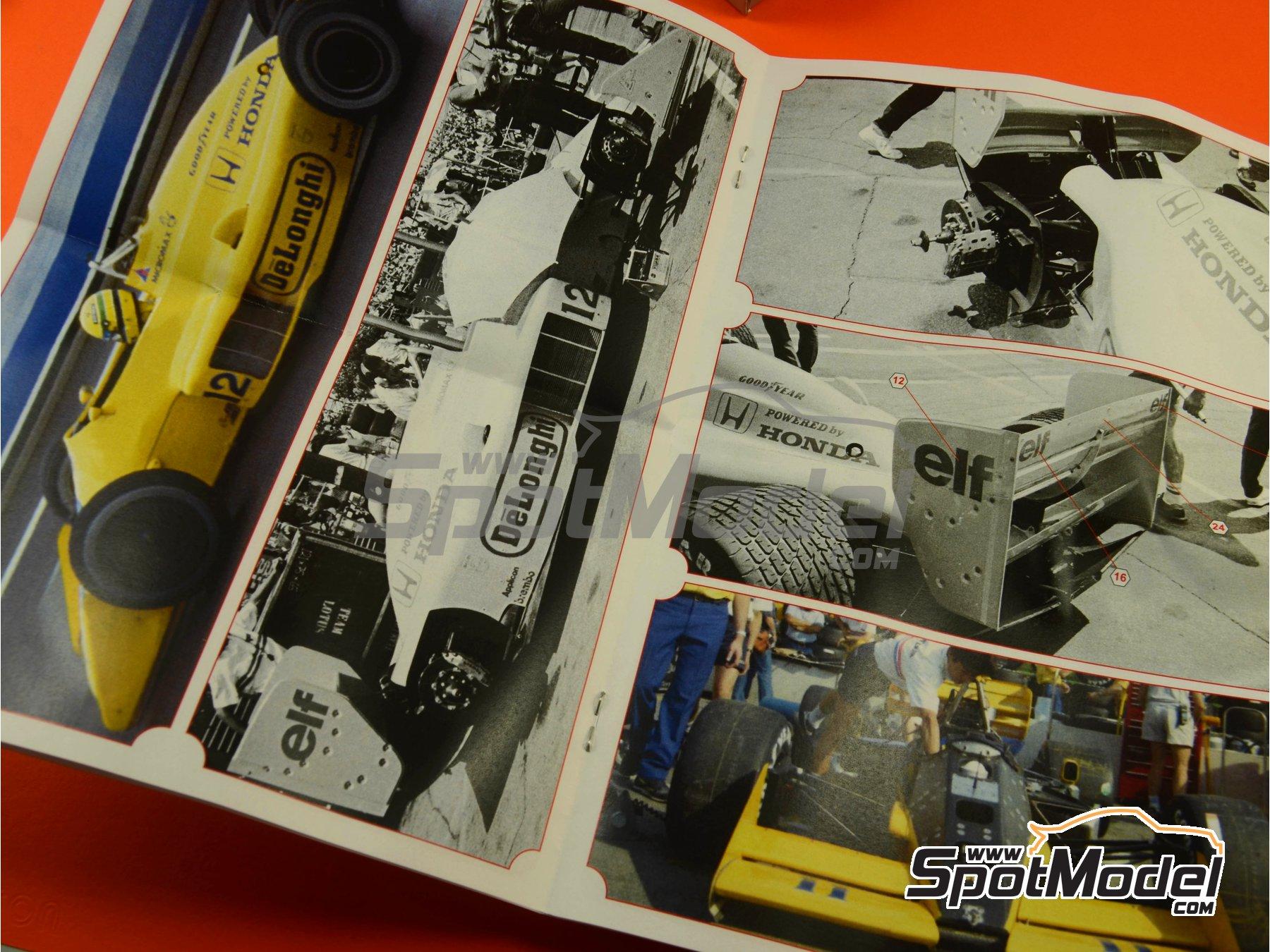Image 11: Lotus Honda 99T Camel - USA Formula 1 Grand Prix 1987 | Model car kit in 1/43 scale manufactured by Tameo Kits (ref.SLK097)