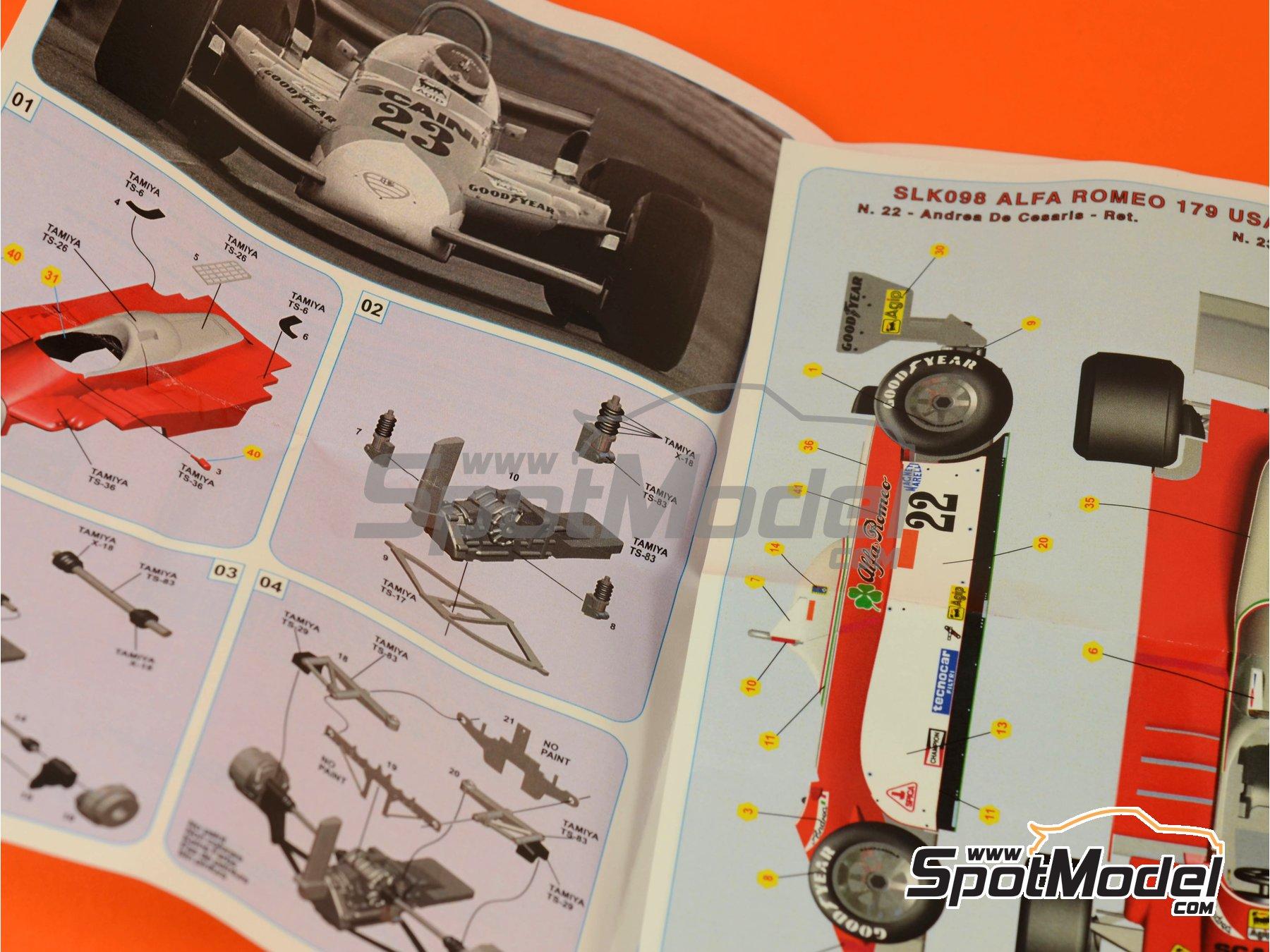 Image 1: Alfa Romeo 179 Marlboro - USA Grand Prix 1980 | Model car kit in 1/43 scale manufactured by Tameo Kits (ref.SLK098)