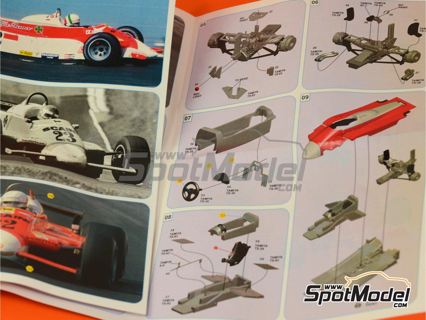 Image 7: Alfa Romeo 179 Marlboro - USA Grand Prix 1980 | Model car kit in 1/43 scale manufactured by Tameo Kits (ref.SLK098)