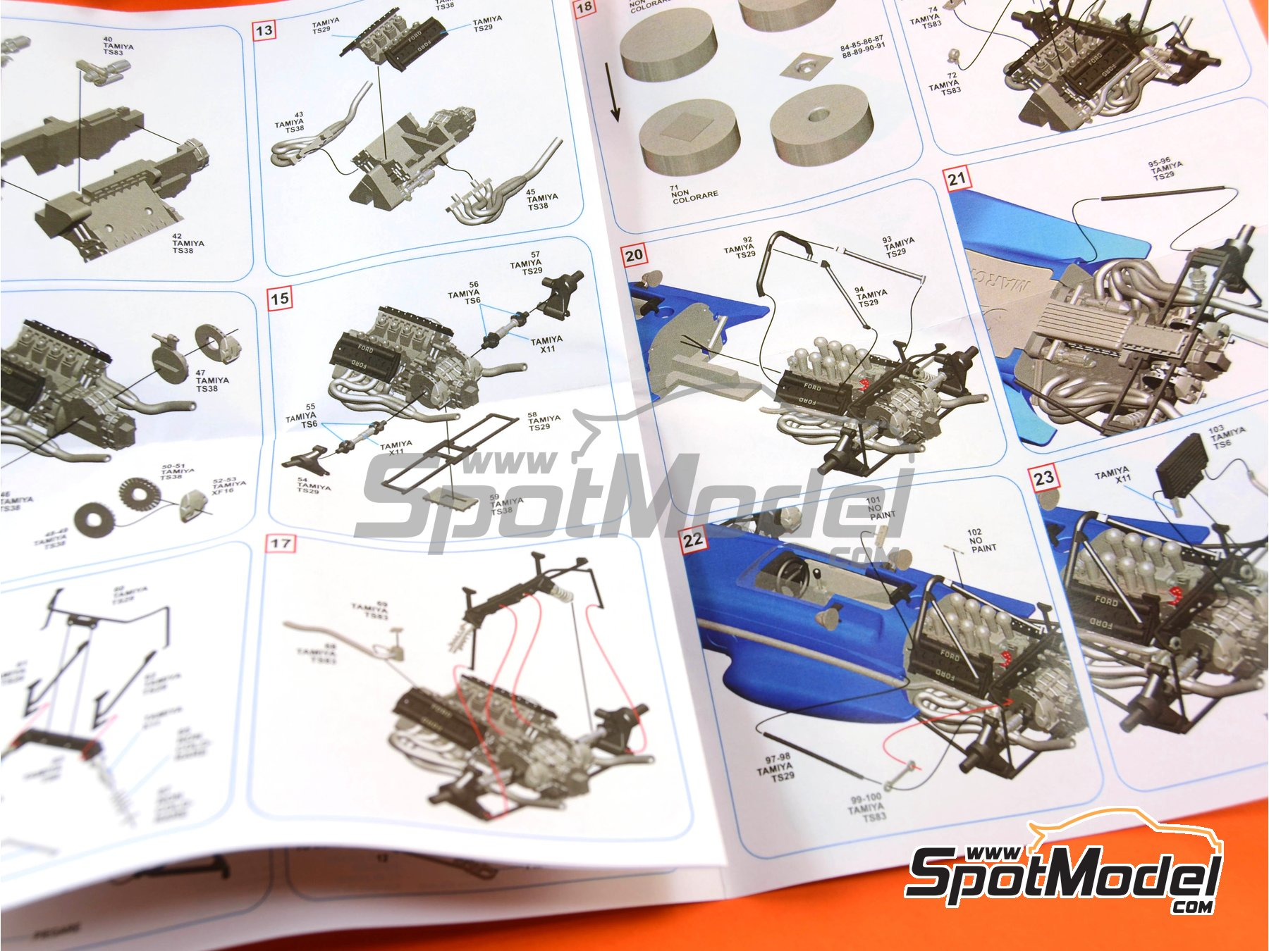 Image 8: March Ford 701 Dunlop - Spanish Formula 1 Grand Prix 1970 | Model car kit in 1/43 scale manufactured by Tameo Kits (ref.SLK100)