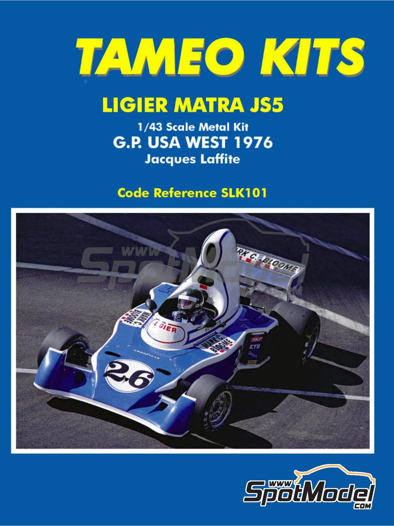 Ligier Matra JS5 Gitanes - Gran Premio de Fórmula 1 de USA West Long Beach 1976 | Maqueta de coche en escala1/43 fabricado por Tameo Kits (ref.SLK101) image