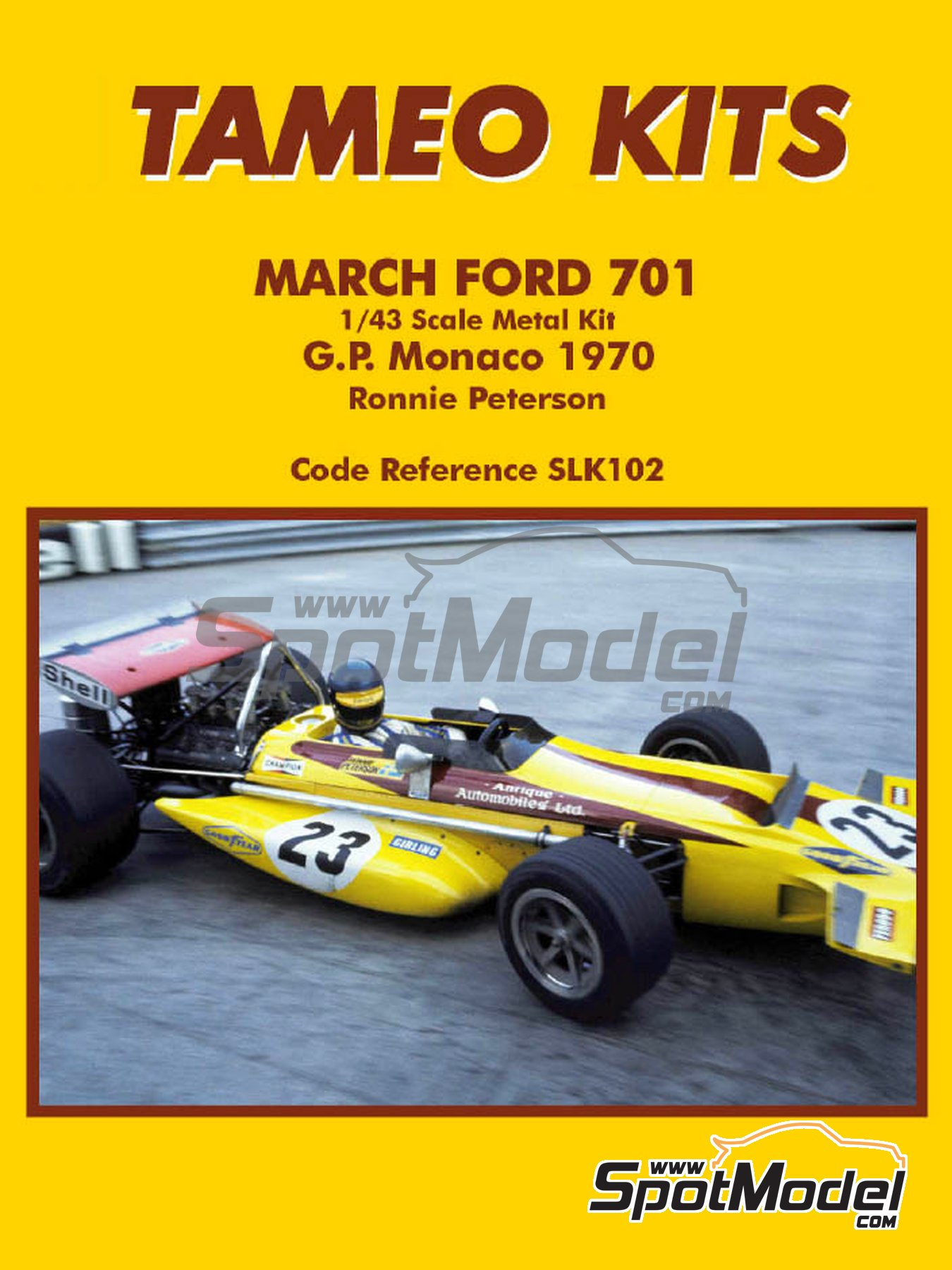March Ford 701 - Monaco Grand Prix 1970 | Model car kit in 1/43 scale manufactured by Tameo Kits (ref. SLK102) image