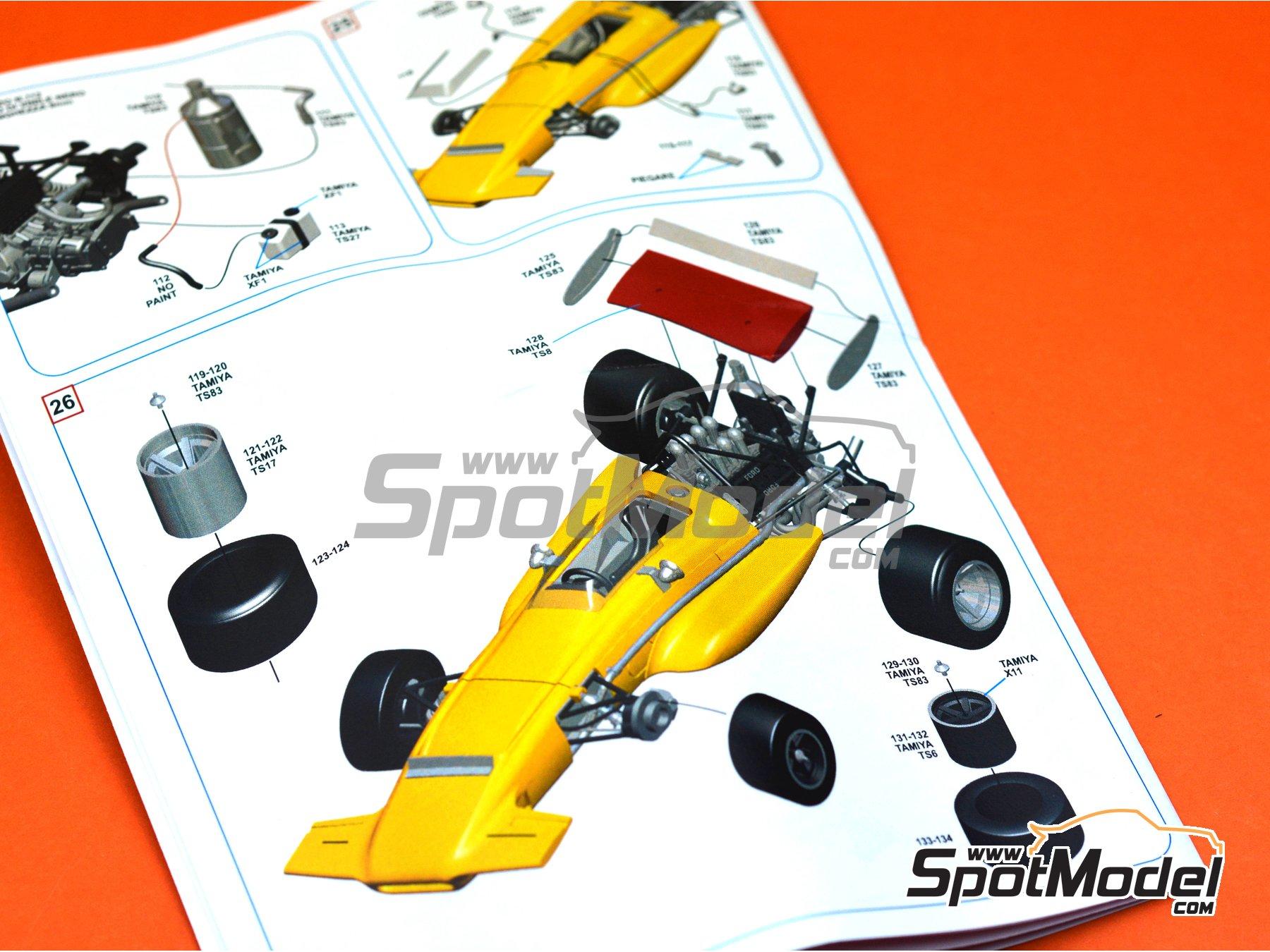 Image 11: March Ford 701 Antique Automobiles Ltd - Gran Premio de Formula 1 de Mónaco 1970 | Maqueta de coche en escala1/43 fabricado por Tameo Kits (ref.SLK102)