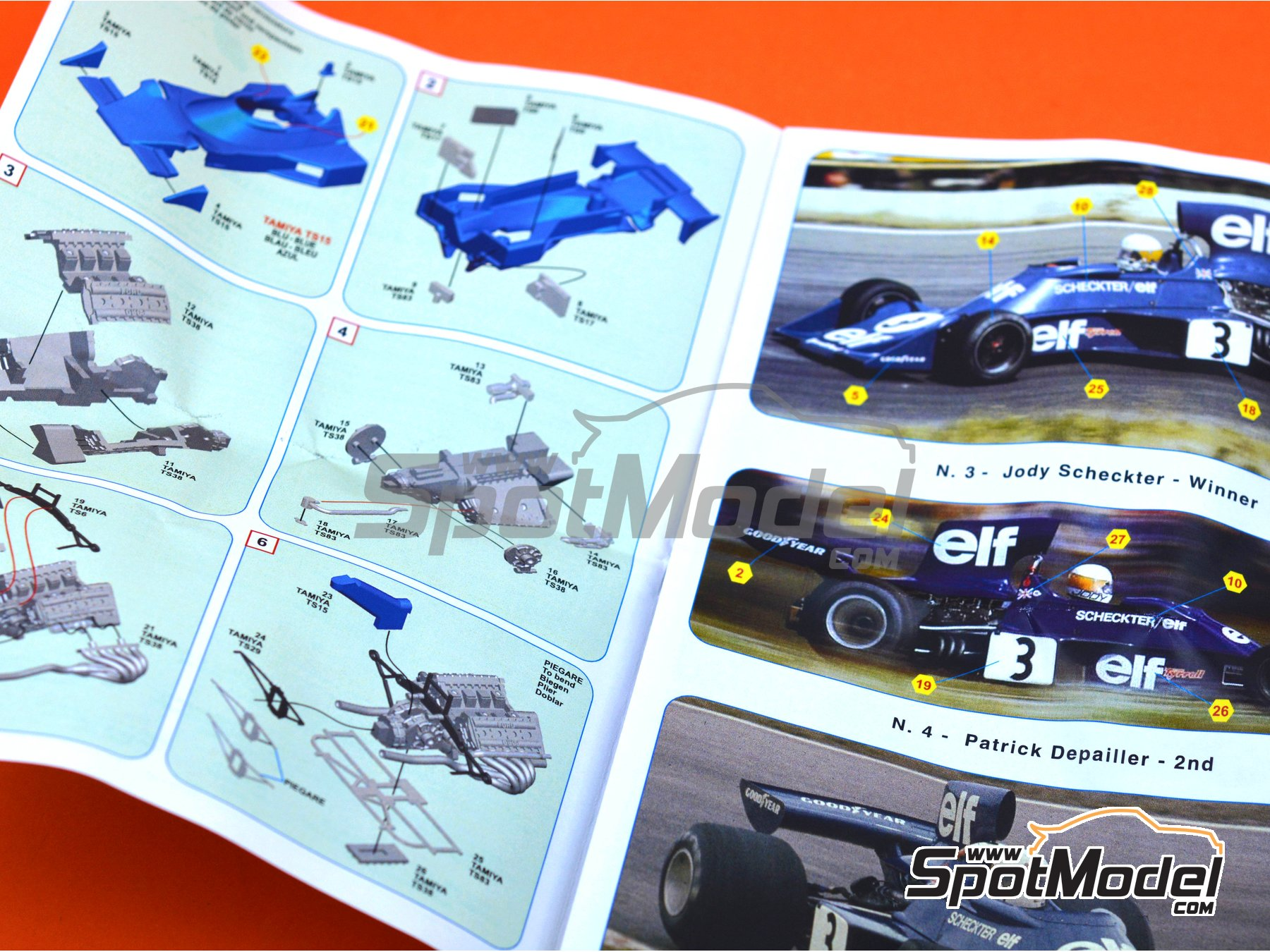 Image 2: Tyrrell Ford 007 ELF - Gran Premio de Suecia 1974 | Maqueta de coche en escala1/43 fabricado por Tameo Kits (ref.SLK103)