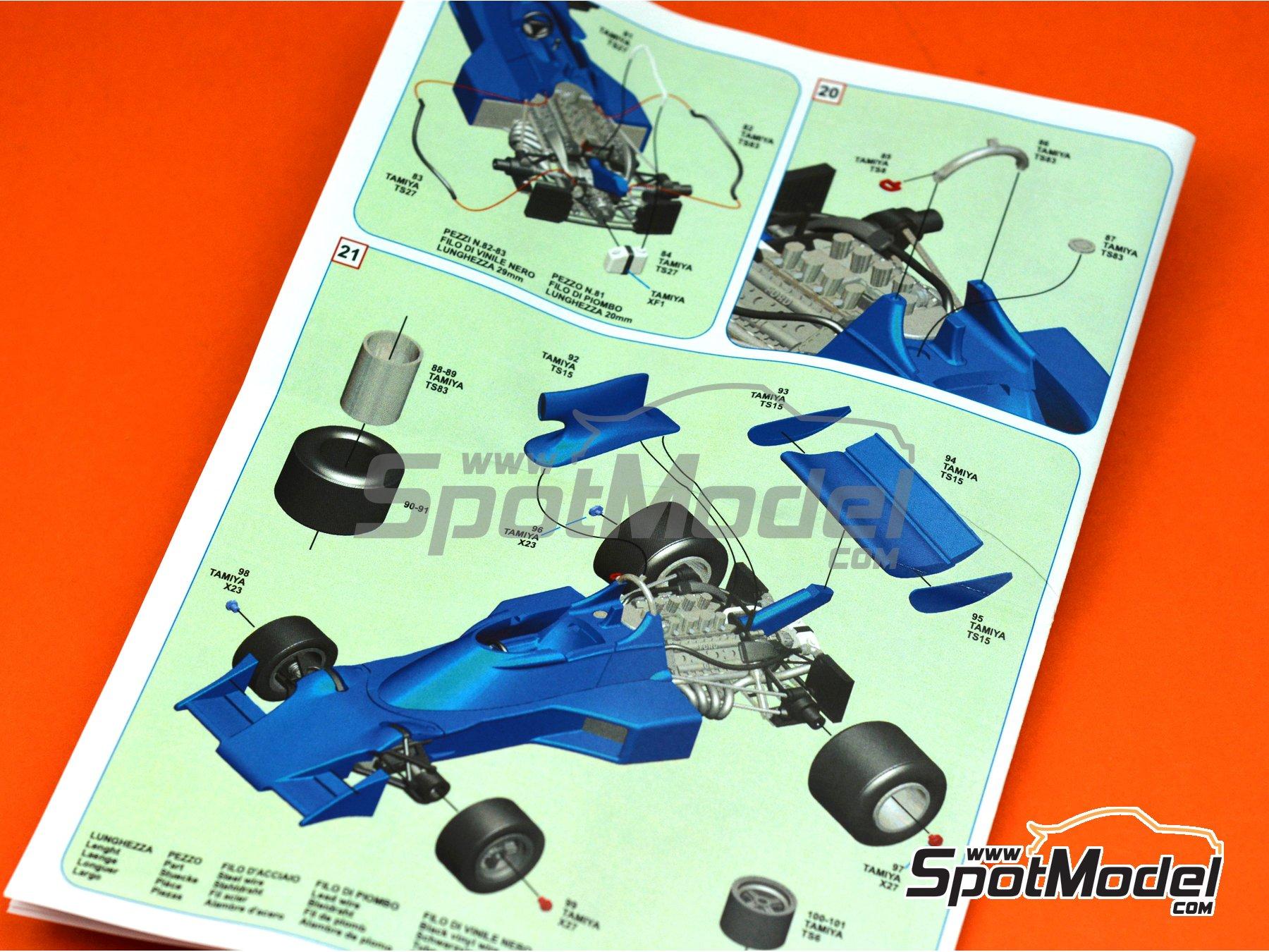 Image 3: Tyrrell Ford 007 ELF - Gran Premio de Suecia 1974 | Maqueta de coche en escala1/43 fabricado por Tameo Kits (ref.SLK103)
