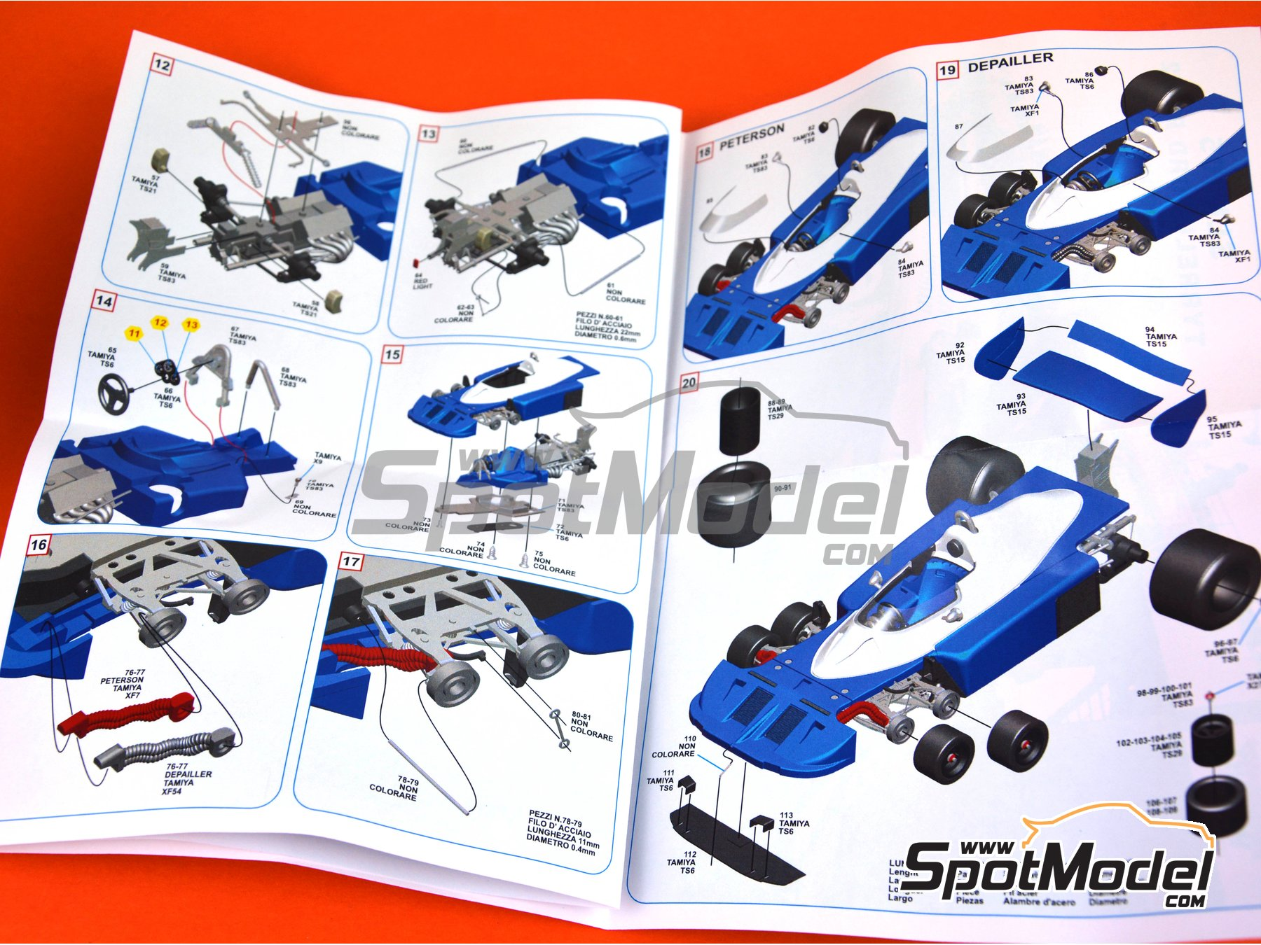 Image 11: Tyrrell Ford P34/2 ELF - Japan Grand Prix 1977 | Model car kit in 1/43 scale manufactured by Tameo Kits (ref. SLK105)