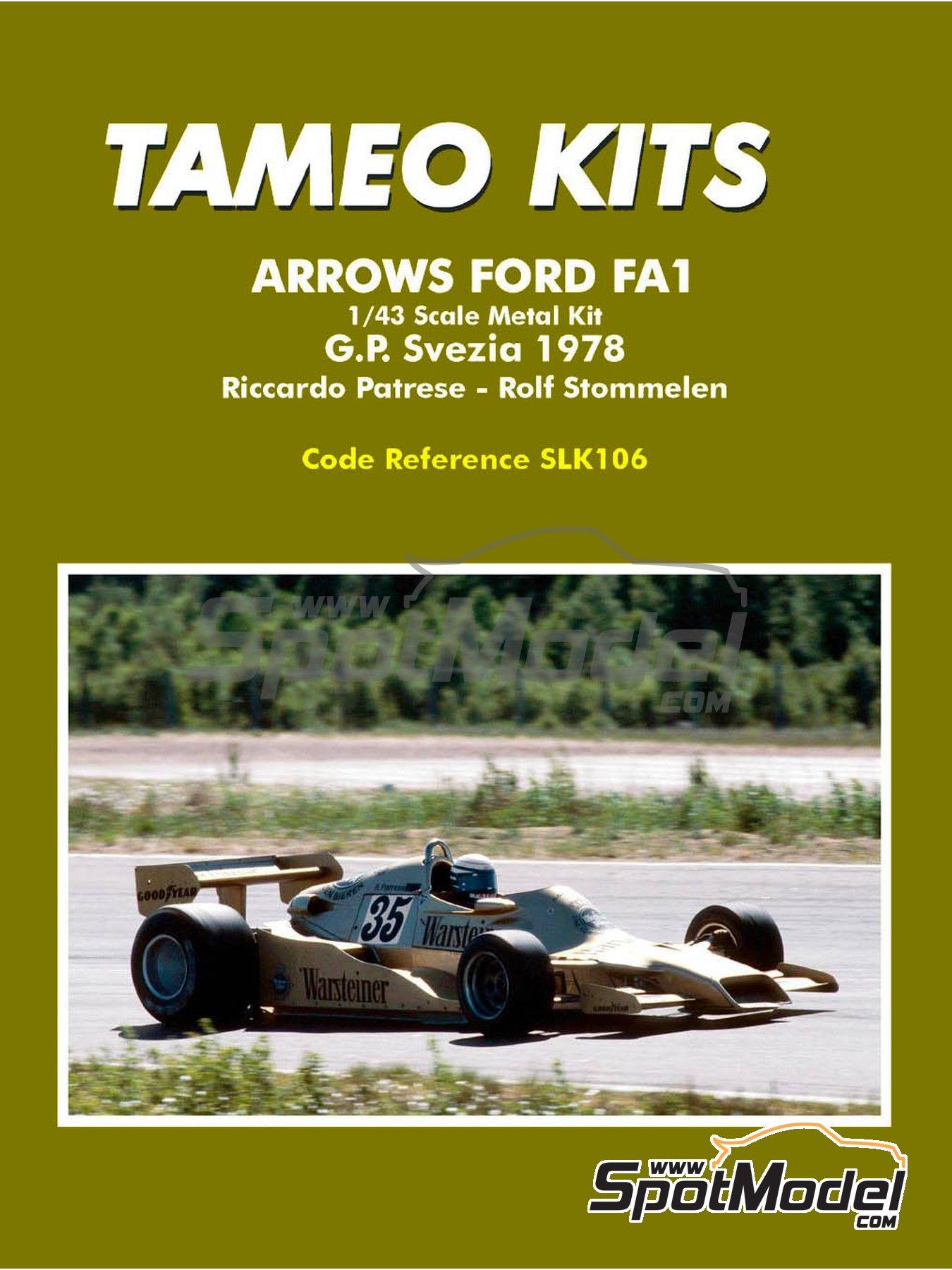 Arrows Ford FA1 - Swedish Grand Prix 1978 | Model car kit in 1/43 scale manufactured by Tameo Kits (ref.SLK106) image