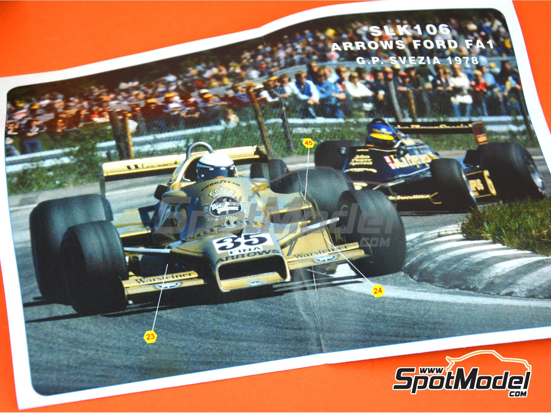 Image 7: Arrows Ford FA1 - Swedish Grand Prix 1978 | Model car kit in 1/43 scale manufactured by Tameo Kits (ref. SLK106)