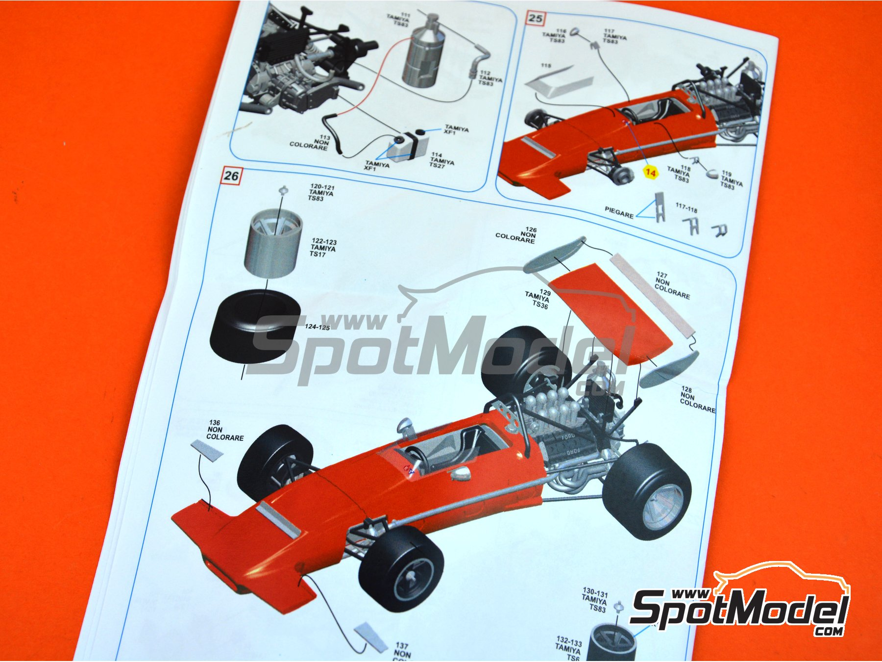 Image 3: March Ford 701 - Spanish Grand Prix 1970 | Model car kit in 1/43 scale manufactured by Tameo Kits (ref. SLK107)